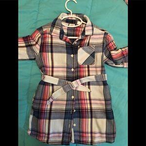 Gap little girls plaid tunic dress, size XS (4/5)